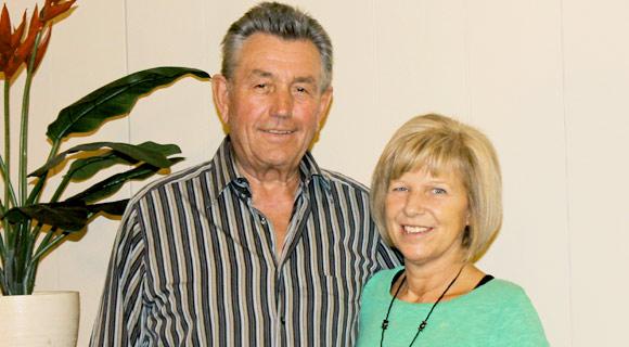 Gastwirtin Josefa Schulz mit ihrem Lebensgefährten Josef Evertz